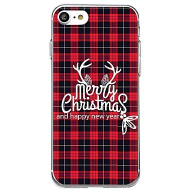 tok Για iPhone 7 / iPhone 7 Plus / iPhone 6s Plus iPhone 8 Plus / iPhone 8 / iPhone SE / 5s Με σχέδια Πίσω Κάλυμμα Χριστούγεννα Μαλακή TPU / iPhone X