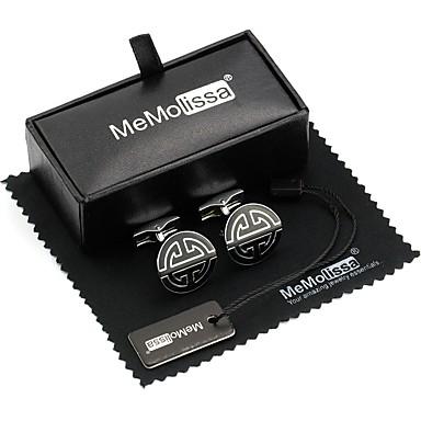 cheap Men's Cufflinks-Cufflinks Leisure Brooch Jewelry Black For Daily Ceremony