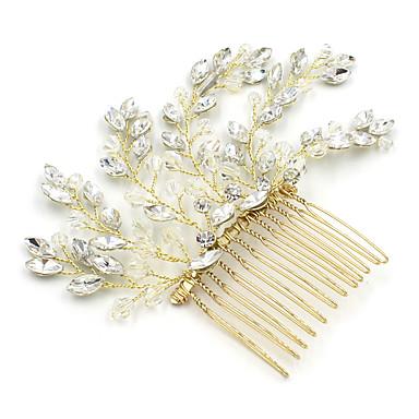 Κρύσταλλο / Στρας Κομμάτια μαλλιών / Λουλούδια με Αστραφτερό Γκλίτερ / Στυλ Διασκορπισμένων Κρυστάλλων 1pc Γάμου / Πάρτι / Βράδυ Headpiece