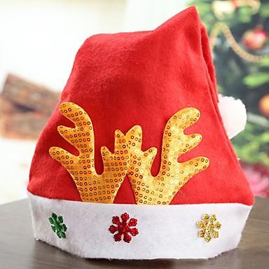 Gorro navideño   Santa vestir Rojo Tejido Accesorios de cosplay Navidad  Disfraces 6400229 2019 –  3.99 866567a2666