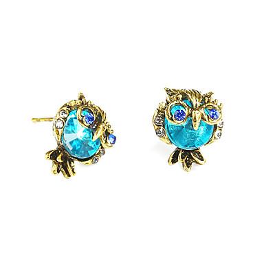 povoljno Modne naušnice-Žene Sitne naušnice Sova dame Vintage Moda Naušnice Jewelry Plava Za Rođendan Dar Svečanost Večer stranka