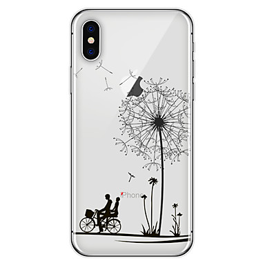 povoljno iPhone maske-Θήκη Za Apple iPhone X / iPhone 8 Plus / iPhone 8 Uzorak Stražnja maska Maslačak / Cvijet Mekano TPU