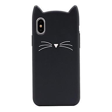 povoljno iPhone maske-Θήκη Za Apple iPhone X / iPhone 8 Plus / iPhone 8 Uzorak Stražnja maska Mačka / Crtani film Mekano Silikon