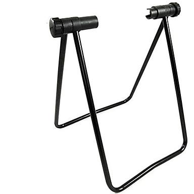billige Sykkeltilbehør-Trippel sykkelstøtte Justerbare Sammenleggbar Holdbar Folding Lagring Til Vei Sykkel Fjellsykkel Sykling Stål Svart