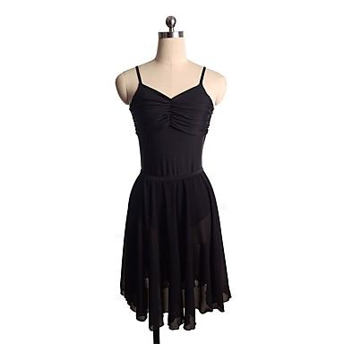 Φόρεμα για φιγούρες πατινάζ Γυναικεία Κοριτσίστικα Patinaj Φορέματα Μαύρο Spandex Ανελαστικό Επίδοση Πρακτική Ενδυμασία πατινάζ Μονόχρωμο Αμάνικο Πατινάζ Πάγου Πατινάζ για φιγούρες
