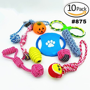 Παιχνίδια για μάσημα για σκύλους Παιχνίδια για μάσημα για γάτες Σχοινιά Σκύλος Κουτάβι Κατοικίδια Παιχνίδια 10pcs Ταχύτητα Χαλαρή Εφαρμογή Καλώδιο Δώρο