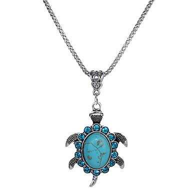 povoljno Modne ogrlice-Žene Kristal Ogrlice s privjeskom Kornjača Sa životinjama dame Jednostavan Moda Tirkiz Legura Tirkiz Ogrlice Jewelry 1 Za Dar Večer stranka