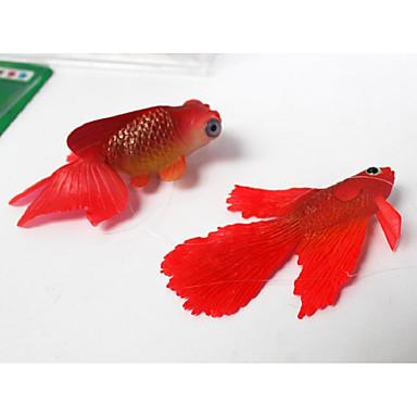 Ενυδρείο ψαριών Διακόσμηση Ενυδρείου Γυάλα για Ψάρια Στολίδια Τεχνητό ψάρι Τυχαίο Χρώμα Mini Μη τοξικό και χωρίς γεύση Διακοσμητικό Καουτσούκ Σιλικόνης Σιλικόνη 1 5*7 cm