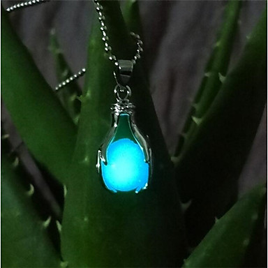 levne Pánské šperky-Pánské Dámské Náhrdelníky s přívěšky Módní Svítící Měď Tmavomodrá Světle modrá Světle zelená Náhrdelníky Šperky 1 Pro Plesová maškaráda Bar