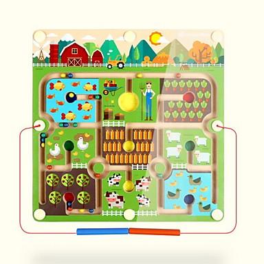 Τρισδιάστατα ξύλινα παζλ Μαγνητικοί λαβύρινθοι Στρες και το άγχος Αρωγής Μαγνητική Παιχνίδια αποσυμπίεσης Μαλακό Πλαστικό Παιδικά Ενηλίκων Κοριτσίστικα Παιχνίδια Δώρο 1 pcs