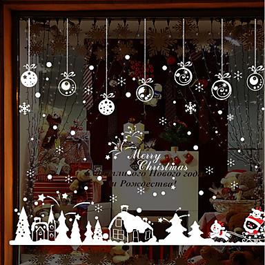 [$10.79] Ventana de película y pegatinas Decoración Navidad / Año Nuevo Art  Decó PVC / Vinilo Adhesivo para Ventana / Salón / Shop / Cafe