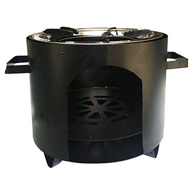 Γκαζάκι κάμπινγκ Σκεύη Μαγειρικής για Εξωτερικό Χώρο Περιέχεται θήκη Για 3-4 άτομα Ανοξείδωτο Ατσάλι ΕΞΩΤΕΡΙΚΟΥ ΧΩΡΟΥ Κατασκήνωση Μαύρο