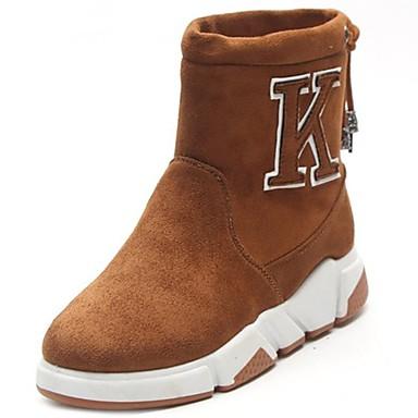 Hombre Zapatos Ante Otoño / Invierno Botas Camperas / Botas de Moda Botas Mitad de Gemelo Negro / Gris / Marrón lmuxT