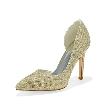 Women s Satin Spring   Summer Basic Pump Heels Stiletto Heel Pointed Toe  Gold   Black   Silver   Party   Evening   Dress   3-4   Party   Evening  6425597 ... ea0823bf93c0