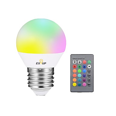 EXUP® 1pç 5W 400lm E27 Lâmpada de LED Inteligente G45 1 Contas LED LED Integrado Regulável Decorativa Controle Remoto Luz LED RGB 85-265V
