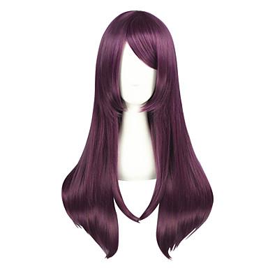Συνθετικές Περούκες Κατσαρά Ίσια Κατσαρά Ίσια Περούκα Μεσαίο Μωβ Συνθετικά μαλλιά Γυναικεία Μωβ