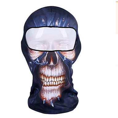 Máscaras de Esqui Animal Filtro Solar Pavio Humido Respirabilidade Á Prova-de-Pó Confortável Moto / Ciclismo Rosa claro Vermelho + azul Azul Real Poliéster para Homens Mulheres Adulto Acampar e