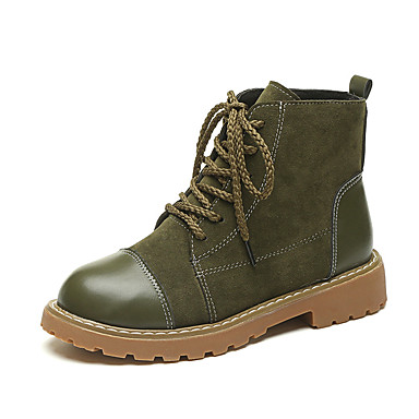 3bf0613644e Women s Leatherette Fall   Winter Fashion Boots Boots Low Heel Round Toe  Booties   Ankle Boots Black   Brown   Dark Green   Party   Evening 6426616  2018 – .