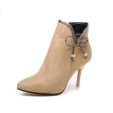 Mujer Zapatos Ante Otoño / Invierno Confort / Botas de Moda Botas Tacón Stiletto Botines / Hasta el Tobillo Negro / Beige Ordre Pré Sortie Vente 2018 Plus Récent U4ZcHKTOq