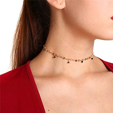 Γυναικεία Κρυστάλλινο Κολιέ Τσόκερ Μενταγιόν Κρεμαστό κυρίες Απλός Γλυκός Χαλκός Χρυσό Ασημί Κολιέ Κοσμήματα Για Πάρτι Καθημερινά
