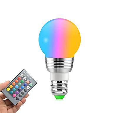 preiswerte Dekoration Glühbirnen-1pc 5 W LED Kugelbirnen 400 lm E14 E26 / E27 5 LED-Perlen SMD Abblendbar Ferngesteuert Dekorativ RGBW 85-265 V / RoHs
