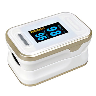 cheap Personal Care Electronics-BOXYM B-81 OLED Display Finger Pulse Oximeters Blood Oxygen Saturation SPO2 BPM Tester Random Color Shipped AAA Batteries(not include)