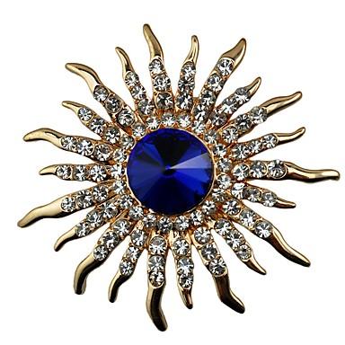 Γυναικεία Ζαφειρένιο Κρυστάλλινο Καρφίτσες Μοντέρνο κυρίες Κλασσικό Κρύσταλλο Προσομειωμένο διαμάντι Καρφίτσα Κοσμήματα Χρυσό Για Δώρο Καθημερινά