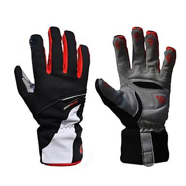 WEST BIKING® Winter Bike Gloves / Cycling Gloves Ski Gloves Mountain Bike MTB Thermal / Warm Waterproof Windproof Breathable Full Finger Gloves Sports Gloves Red Blue Adults' Ski / Snowboard