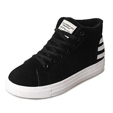 Mujer Zapatos Goma Invierno Confort Zapatillas de deporte Dedo redondo Negro / Gris qxtI5