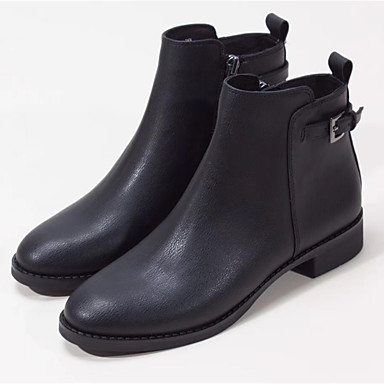 ab240cb6d6b Women s Shoes Cowhide Spring Fall Fashion Boots Boots Block Heel Round Toe  Booties Ankle Boots for Casual Outdoor Black 6448318 2019 –  74.99