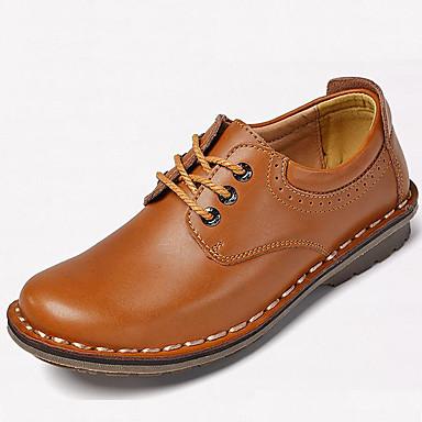 Hombre Zapatos Cuero de Napa Primavera / Verano / Otoño Confort Oxfords Morrón Oscuro / Fiesta y Noche / Los zapatos de cuero 18fSjLNj