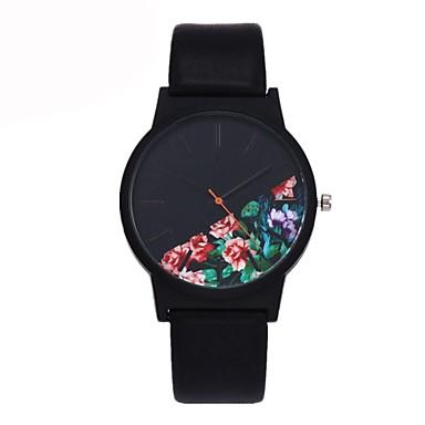 levne Dámské-Pánské Hodinky na běžné nošení Módní hodinky Unikátní Creative hodinky Křemenný Kůže Černá / Modrá / Zelená Voděodolné Chronograf Hodinky na běžné nošení Analogové Květina Elegantní Vánoce - Červen