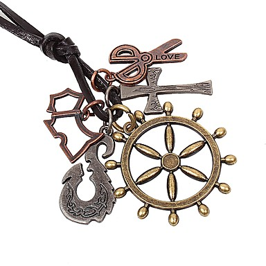 levne Dámské šperky-Pánské Náhrdelníky s přívěšky Haç Nůžky Rokové Módní Slitina Bronzová Náhrdelníky Šperky 1 Pro Denní Jdeme ven