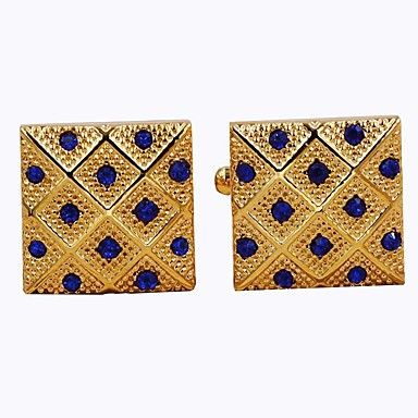 Butoni Ορθογώνιο Επίσημο ρούχο Μοντέρνα Καρφίτσα Κοσμήματα Χρυσαφί Για Καθημερινά Επίσημο