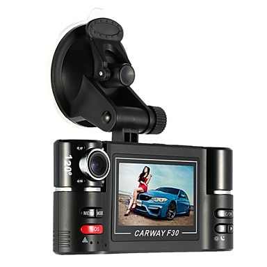 billige Bil Elektronikk-carway f30 bil dvr 2,7 tft lcd hd 1080p rotert dobbelt linse dash kamera kjøretøy digital videoopptaker videokamera nattsyn