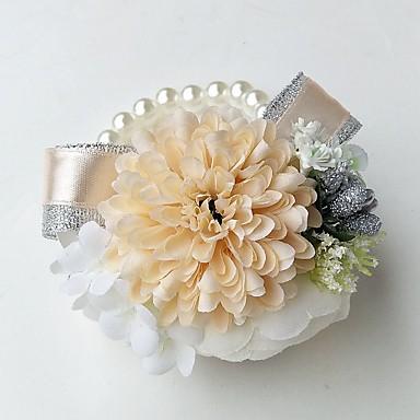 Λουλούδια Γάμου Κορσάζ Καρπού Γάμου / Πάρτι / Βράδυ Πολυεστέρας 3.94 inch