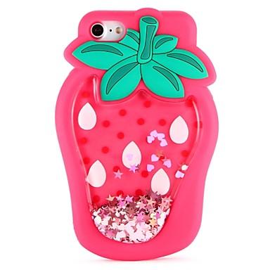tok Για Apple iPhone X / iPhone 8 Plus / iPhone 8 Φτιάξτο Μόνος Σου Πίσω Κάλυμμα Φαγητό / Κινούμενα σχέδια 3D / Φρούτα Μαλακή Σιλικόνη