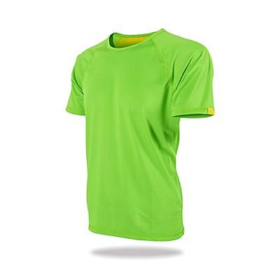 Ανδρικά Συμπαγές Χρώμα Tricou de Drumeție Κοντομάνικο Εξωτερική Αναπνέει Αθλητικά Γρήγορο Στέγνωμα Φανέλα Μπολύζες Καλοκαίρι Πολυεστέρας Στρογγυλή Ψηλή Λαιμόκοψη Πράσινο Μπλε Γκρίζο