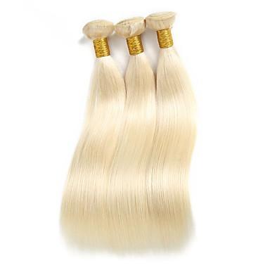 povoljno Ekstenzije od ljudske kose-3 paketa Brazilska kosa Ravan kroj Remy kosa Ljudska kosa Ombre 10-30 inch Isprepliće ljudske kose Proširenja ljudske kose / 10A