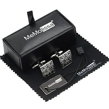 voordelige Herensieraden-Manchetknopen Strepen Casual / Sporty Gift Boxes & Bags Broche Sieraden Grijs Voor Dagelijks Formeel