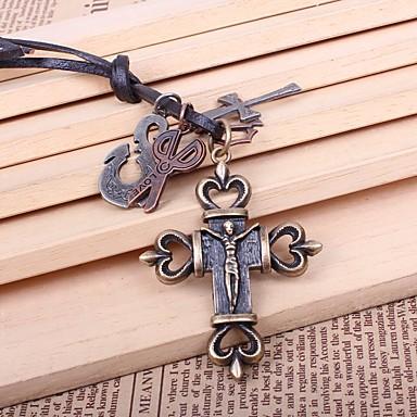 levne Dámské šperky-Pánské Náhrdelníky s přívěšky Ryté Haç Nůžky Módní Slitina Bronzová Náhrdelníky Šperky 1 Pro Dar Jdeme ven
