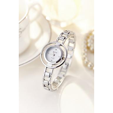 levne Pánské-Dámské Náramkové hodinky Maketa Diamant Hodiny Křemenný Stříbro / Zlatá 30 m Voděodolné imitace Diamond Analogové Vintage Skládaný Módní Elegantní - Zlatá Stříbrná