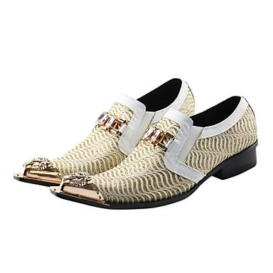 billige Oxfordsko til herrer-Herre Formell Sko Syntetisk Vår / Høst Vintage Oxfords Hvit / Bryllup / Fest / aften / Fest / aften / Novelty Shoes
