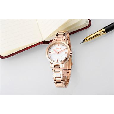 levne Pánské-Dámské Módní hodinky Náramkové hodinky Maketa Diamant Hodiny Křemenný Stříbro / Zlatá / Růžové zlato 30 m Voděodolné imitace Diamond Analogové Třpyt Vintage Elegantní - Zlatá Stříbrná Růžové zlato