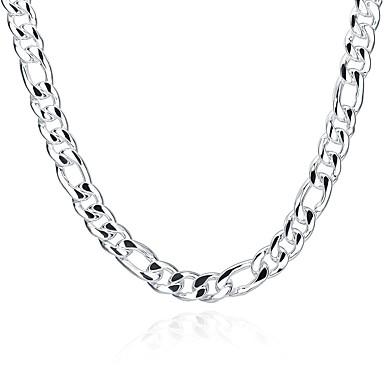 levne Pánské šperky-Pánské Řetízky Námořní řetěz Sladký Módní Měď Postříbřené Stříbrná Náhrdelníky Šperky Pro Dar Denní