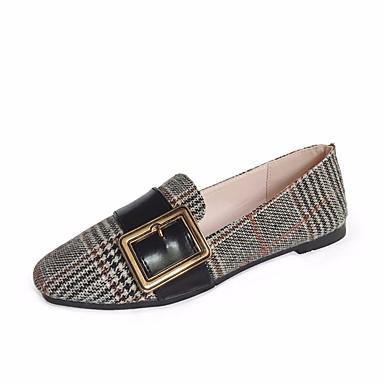 wholesale dealer 616b1 445a5 Primavera Slip Bajo Taco Confort Zapatos Tela Y Mujer On Otoño De 5gxUWq