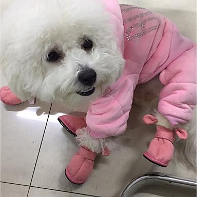 Γάτα Σκύλος Παπούτσια & Μπότες Animals Καθημερινά Διατηρείτε Ζεστό Μονόχρωμο Ζώο Καφέ Ροζ Για κατοικίδια / Χειμώνας