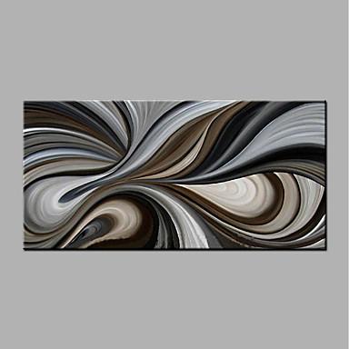 Pintura a Óleo Pintados à mão - Abstrato Modern Sem armação interna / Lona Laminada