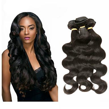 6 Bundles Malaysian Hair Body Wave Remy Human Hair Natural Color Hair Weaves / Hair Bulk Human Hair Weaves Human Hair Extensions