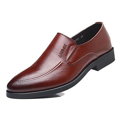 Bajo Zapatos Cuero De Hombre Taco Y Confort Otoño Primavera 0vnfxFq6